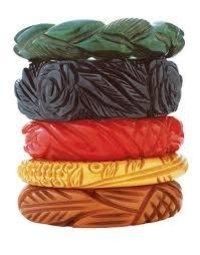 Printed Colorful Bakelite Bangle