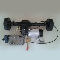 Drum Brake Differential Rear Axle Motor