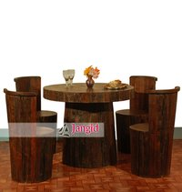 Reclaimed Wooden Dining Table Set