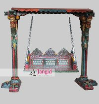 Hand Painted Indian Wooden Painted Swing