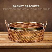 Handmade Basket With Brass Caskets