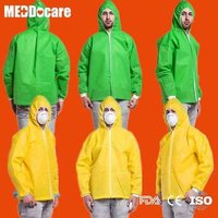 Pp Sms Ppe Non Woven Hooded Lab Jackets