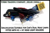 H1 / H7 Car Head Lamp Relay Wiring Harness