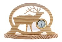 Deer Wooden Table Clocks