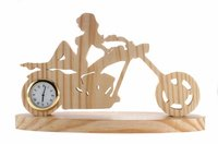 Girl With Bike Wooden Table Clocks