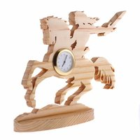 Warrior Horse Wooden Table Clocks