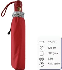 Emili Auto Red Umbrella