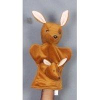 Glove Puppets - Kangaroo With Baby