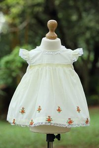 Hand Embroidered Baby Frock