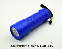 Sturdy Plastic Torch 9 Led