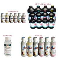 Hard And Soft Led Uv Ink, Textile Ink, Sublimation Ink, Head Cleaner
