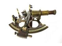 Decorative Nautical Antique Brass Sextant