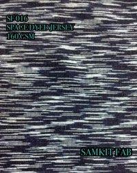 Denim Space Dyed Jersey Fabrics