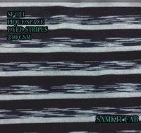 Denim Pique Space Dyed Stripes Fabrics
