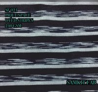 Denim White Space Dyed Pique Fabrics