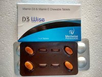 D3 Wise Vitamin D3 And E Chewable Tablets