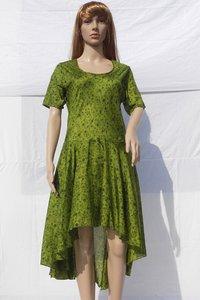 Ladies Vintage Designer Silk Evening Long Dress