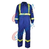 Cotton and Nylon Flame Protection Coveralls for Oil and Gas Workers