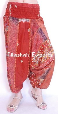 Vinatge Silk Trousers For Women