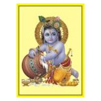 Gold Plated Krishna Posters