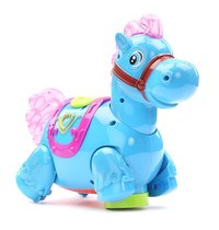 Battery Operated Blue Horse With Light And Sound