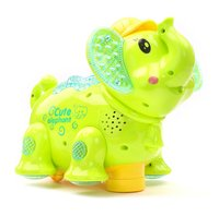 Battery Operated Elephant Projector Light And Sound Green