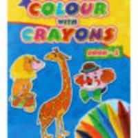 Colour With Crayon Book