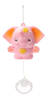 Musical Pulling Toy With Sweet Sound Elephant Pink