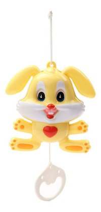 Musical Pulling Toy With Sweet Sound Rabbit Yellow