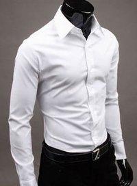 Mens Cotton White Semi Formal Shirts