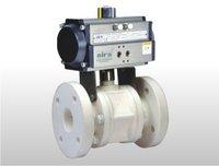 Pneumatic Rotary Actuator Operated Polypropylene Ball Valve
