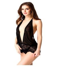 Blace Net Babydoll Nightwear