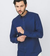 Royal Blue Slim Fit Full Sleeve Shirt
