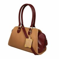 UD00166 Light Brown Beige Ladies Synthetic Leather Bags