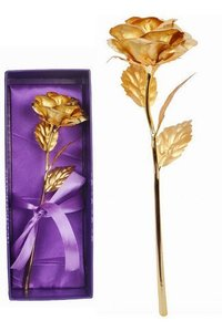 Golden Rose Brooches 10 Inches With Gift Box