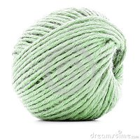 Green Ball Of String Or Twine