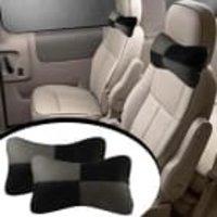 Speedwav Designer Car Seat Neck Cushion Pillow - Black And Grey Colour