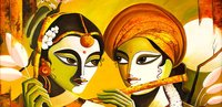 Radha Krishna Oil Painting