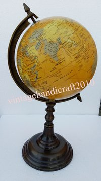 World Globe With Ring Stand