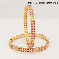 Fancy Ruby-Cubic Zirconia Bangles