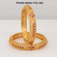 Ruby-Cubic Zirconia Bangle