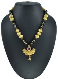 Gold Plated Gems Studded Mangalsutra