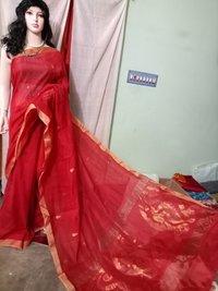 Traditional Designer Silk Cotton Hand Jamdani Sarees