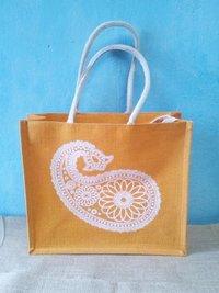 Printed Stylish Jute Shopping Bag