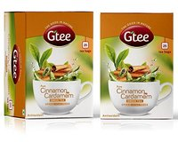 Gtee Green Tea Bags - Cinnamon & Cardamom 25'S
