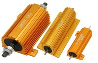 Gold Aluminum Housed Wire Wound Power Resistor