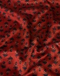 Handblock Natural Dye Mashru Silk Printed Fabric