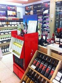 Factory Custom Retail Shop Floor Bottle Mdf Wooden Display