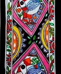 Birds With Flower Mithila Painting