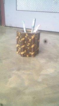 Bamboo Six Corner Pan Stand